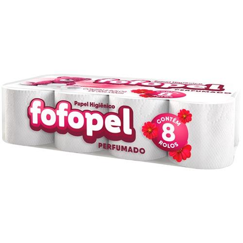 PAPEL HIGIÊNICO  FOFOPEL FOLHA SIMPLES  PERF PACOTE C/ 8 ROLOS   | FARDO  C/ 8X8