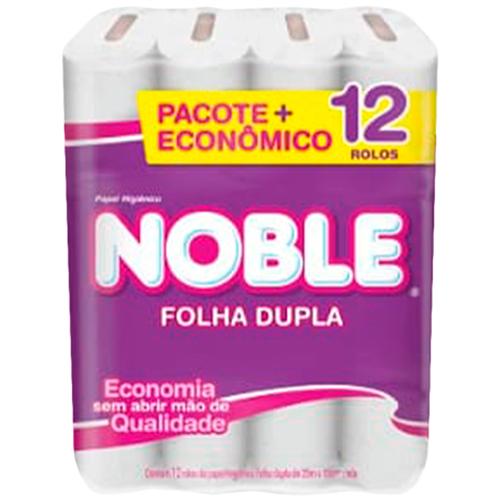 PAPEL HIGIÊNICO  NOBLE FOLHA DUPLA  20 METROS | FARDO  C/ 10X12 UNID