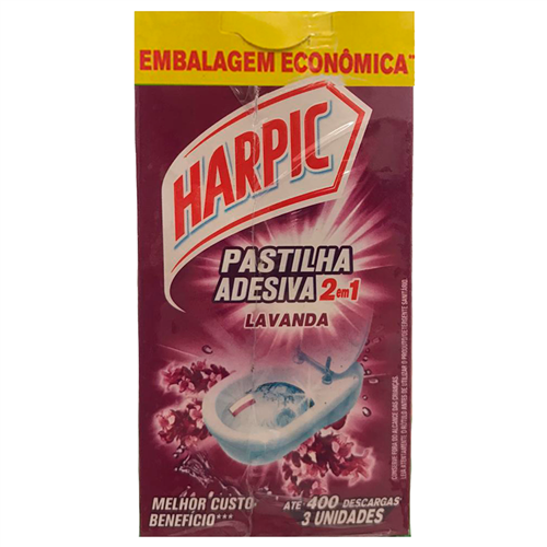 PASTILHA ADESIVA HARPIC LAVANDA PROMOCIONAL  | CAIXA  C/ 6X3X9G