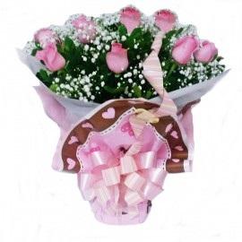 Ramalhete de Rosas com 8 rosas
