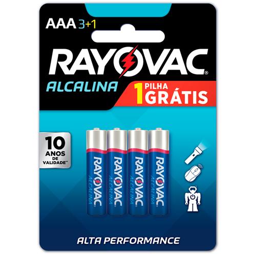 RAYOVAC ALCALINA PALITO AAA LEVE 4 PAGUE 3    CAIXA  C/ 12X4 UNID