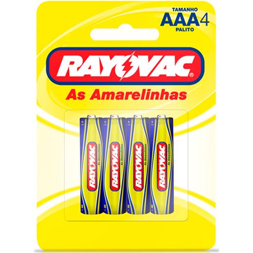 RAYOVAC PALITO C/4  | CAIXA  C/ 24X4