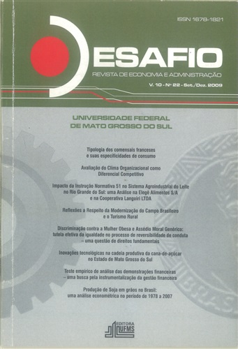Revista Desafio de Economia e Administração (Volume 10, Número 22)