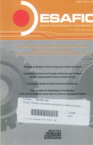 Revista Desafio de Economia e Administração (Volume 11, Número 24)
