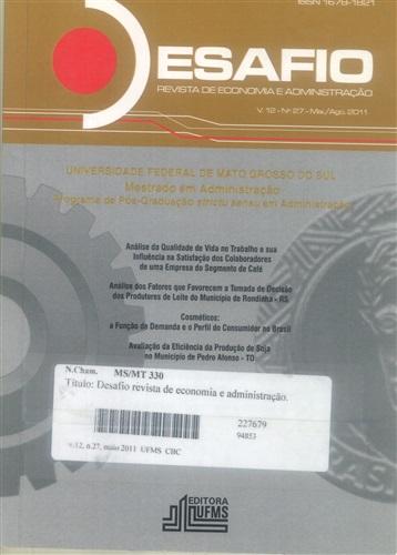 Revista Desafio de Economia e Administração (Volume 12, Número 27)