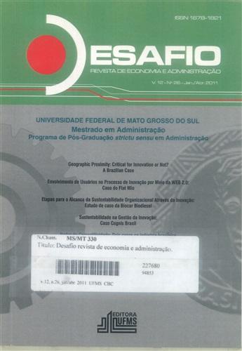 Revista Desafio de Economia e Administração (Volume 12, Número 28)