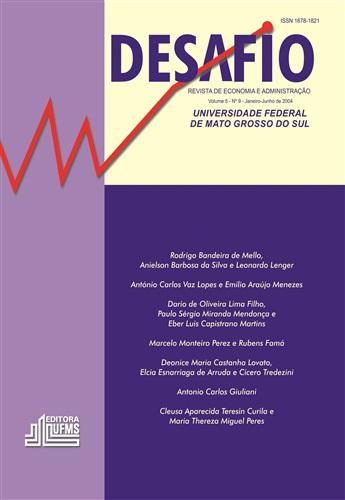 Revista Desafio de Economia e Administração (Volume 5, Número 9)