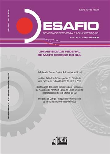 Revista Desafio de Economia e Administração (Volume 6, Número 11)
