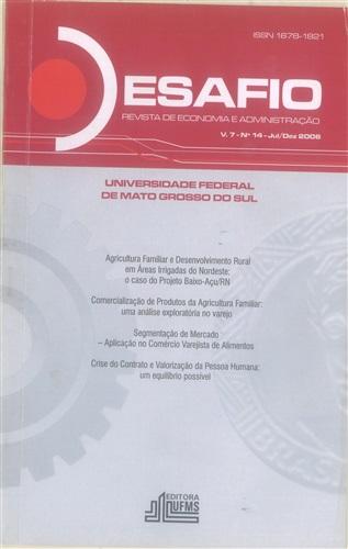Revista Desafio de Economia e Administração (Volume 7, Número 14)