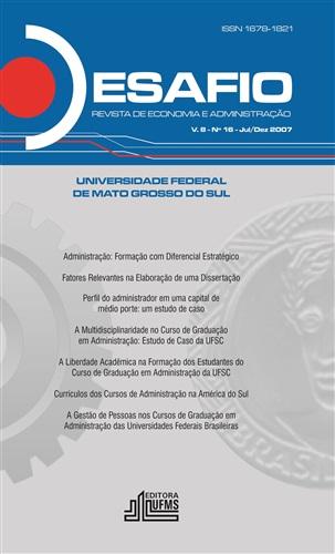 Revista Desafio de Economia e Administração (Volume 8, número 16)