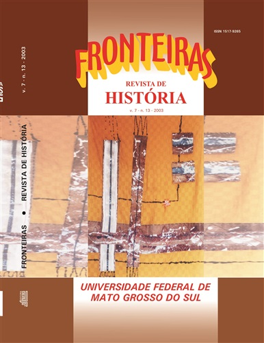 Revista Fronteiras de História UFMS (Volume 7, Número 13)