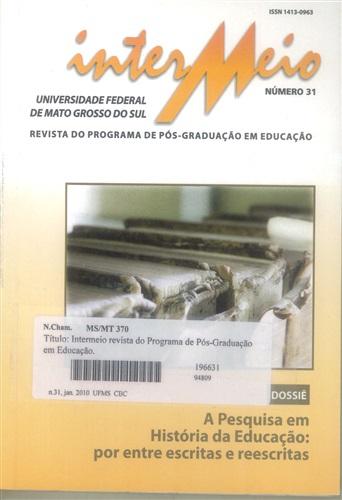 Revista Intermeio: Revista do Programa de Pós-Graduação em Educação (Volume 16 | Número 31)