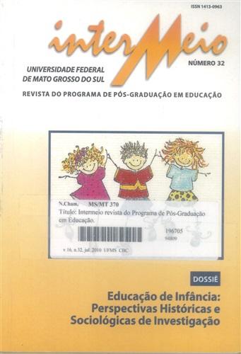 Revista Intermeio: Revista do Programa de Pós-Graduação em Educação (Volume 16| Número 32