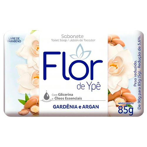 SABONETE FLOR YPE SUAVE ROSAS BRANCAS E AVELÃ    CAIXA  C/ 36X85G