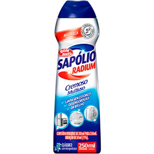 SAPÓLIO RADIUM CREMOSO CLÁSSICO  | CAIXA  C/ 12X250ML | EAN 7891022861044
