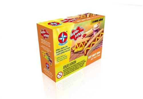 Super Massa Kit Hot Dog - Estrela
