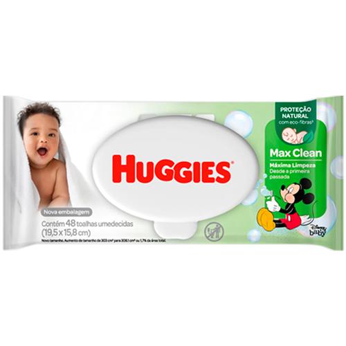 TOALHA UMEDECIDA HUGGIES MAX CLEAN