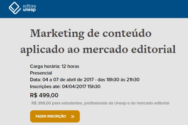 Unil oferece curso sobre marketing de conteúdo no mercado editorial