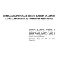 Editoras universitárias na América Latina: a importância do trabalho em associações